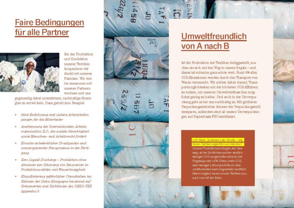Seite aus textainable-Broschüre