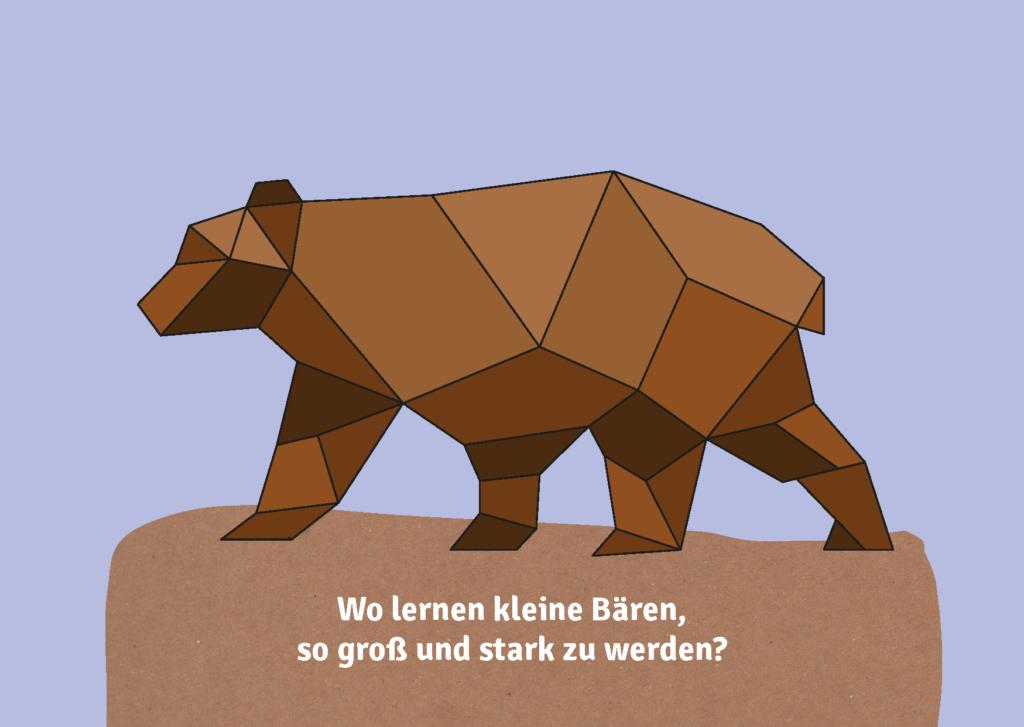 Postkarte mit Bär