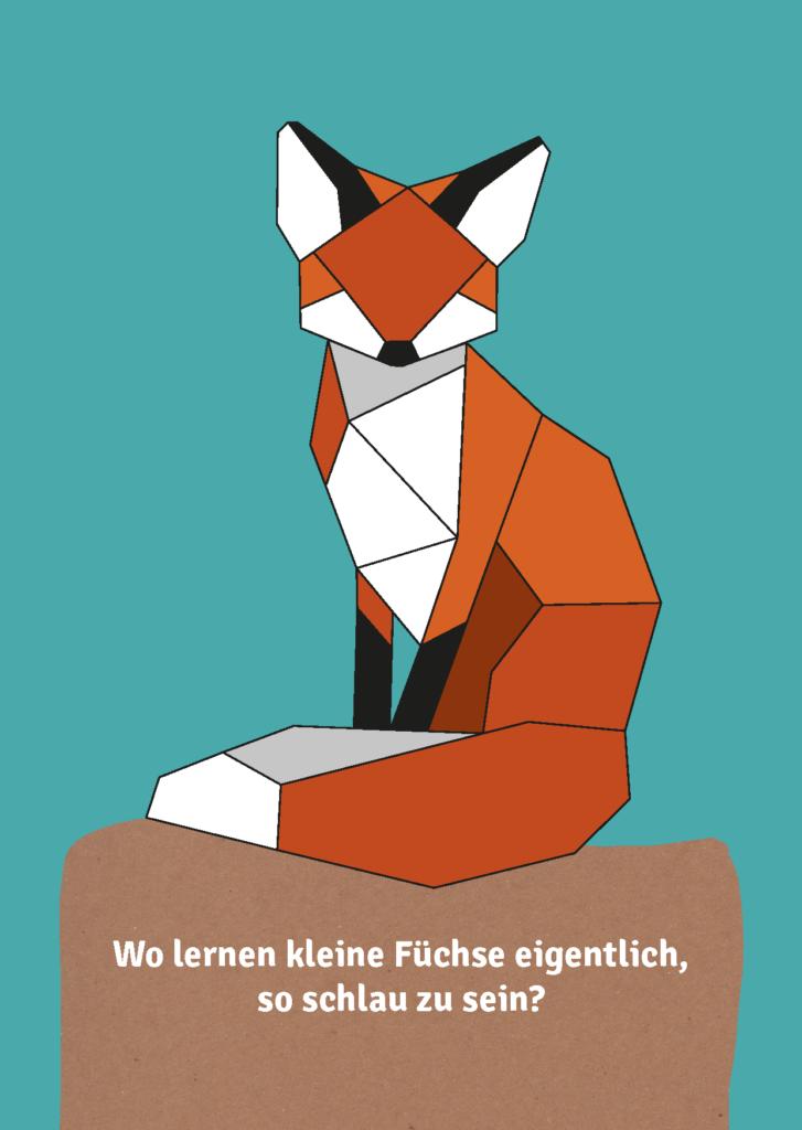 Postkarte mit Fuchs